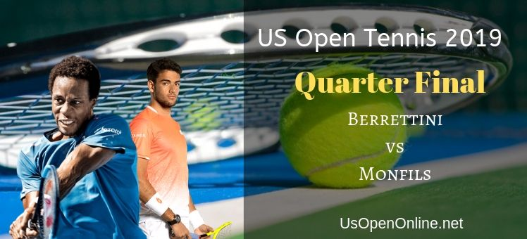 Monfils VS Berrettini Live Streaming