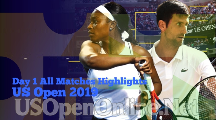 US Open Tennis 2019 Day 1 Complete Match Highlights