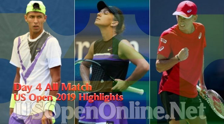 US Open Tennis 2019 Day 4 Complete Match Highlights Video
