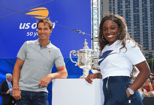 S.Stephens and R.Nadal at 2108 US Open Draw Ceremony